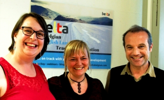 BELTA Grant winners An Sneyers, Francesca Di Giovanni and Mark Van Dongen
