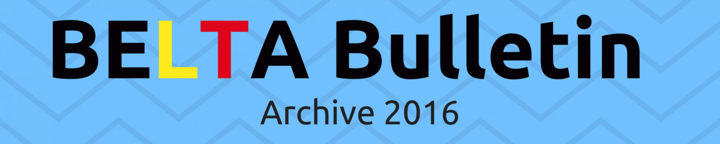 BULLETIN Archive 2016