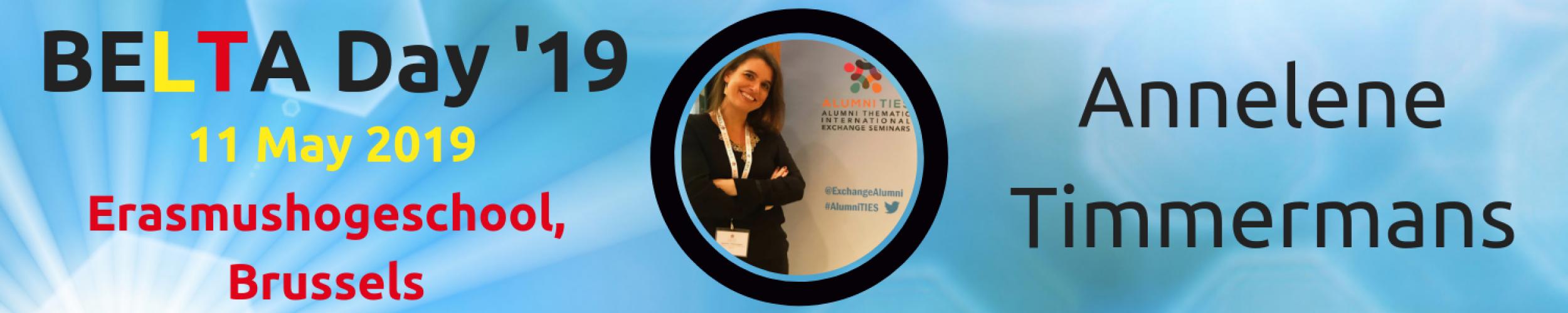BELTA Day '19: Meet the Speakers: Annelene Timmermans