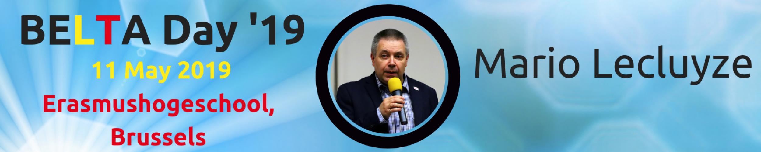 BELTA Day '19: Meet the Speakers: Mario Lecluyze