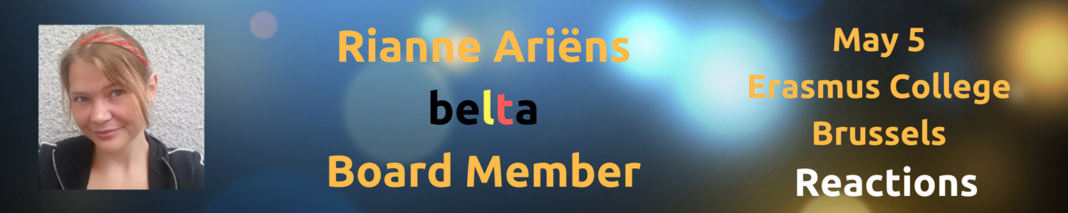 BELTA Day 2018 Reflections: Rianne Ariëns